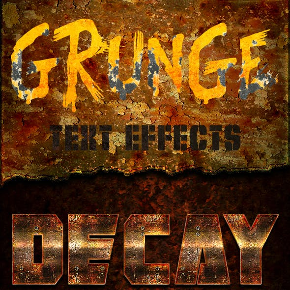 12 Grunge Text Effects