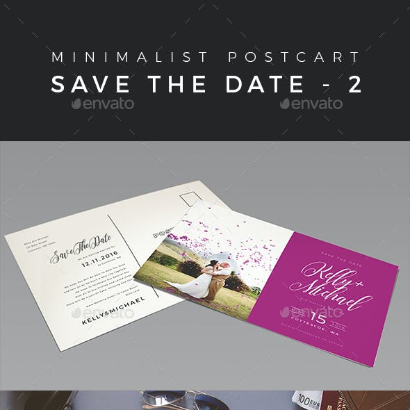 Minimalist Save The Date Postcard | Volume 2
