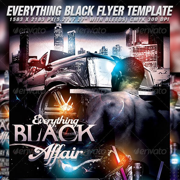 Everything Black Flyer Template