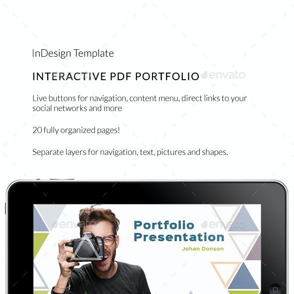 Interactive PDF Triangle Photographer Portfolio No8