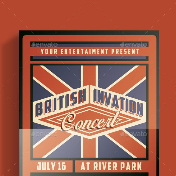 British Invasion Concert Flyer
