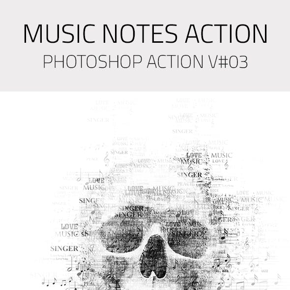 Music Notes Photoshop Action V03