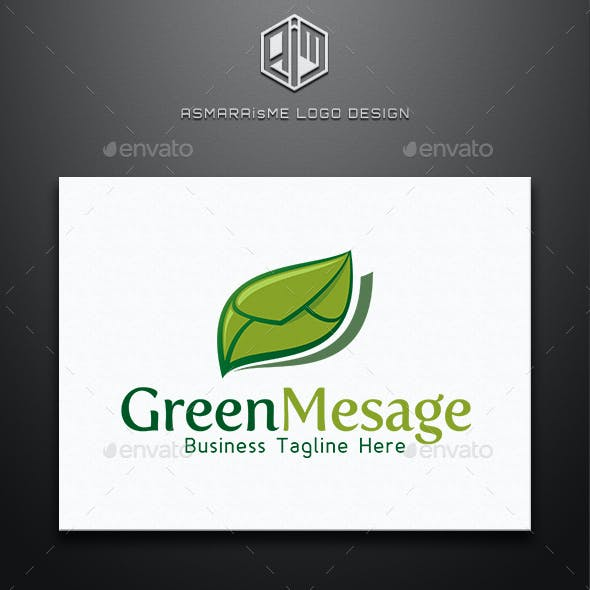 Green Mesage - Back to the Nature Logo