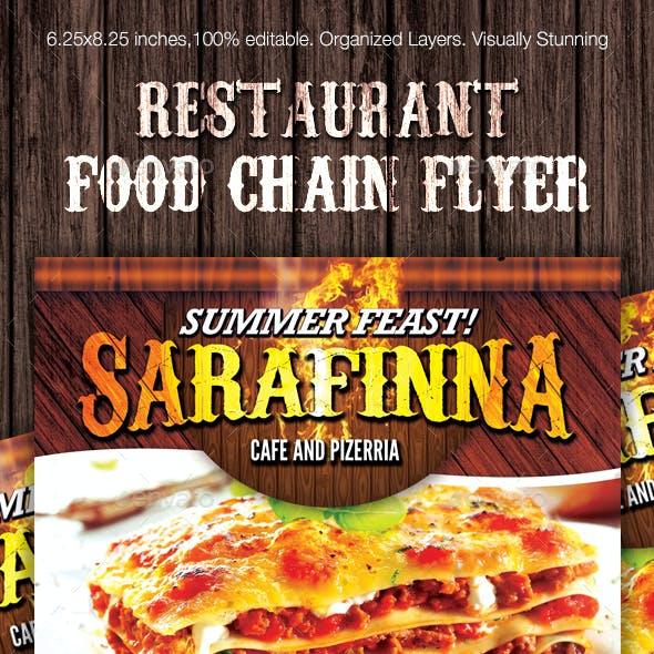 Restaurant Food Chain Flyer