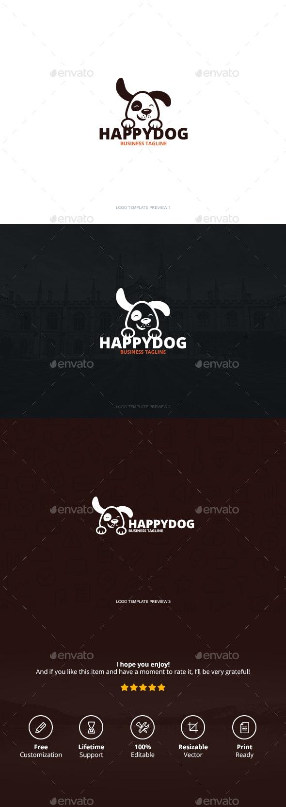 Happy Dog Logo - Logo Templates