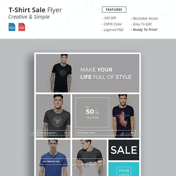 T-Shirt Sale Flyer