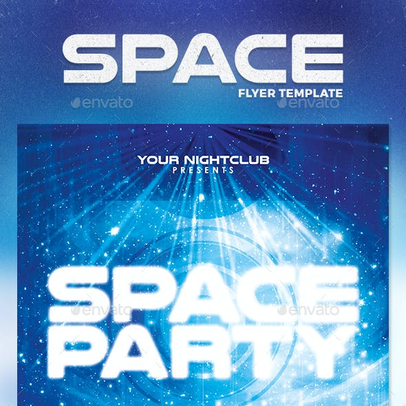 Space Party Flyer