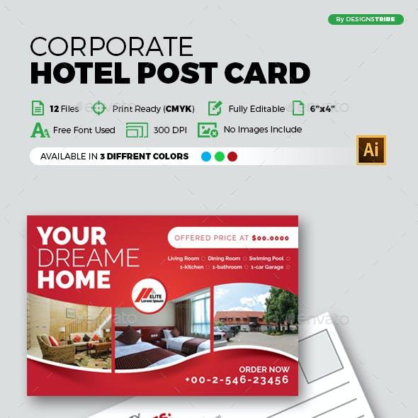 Hotel Post card Design