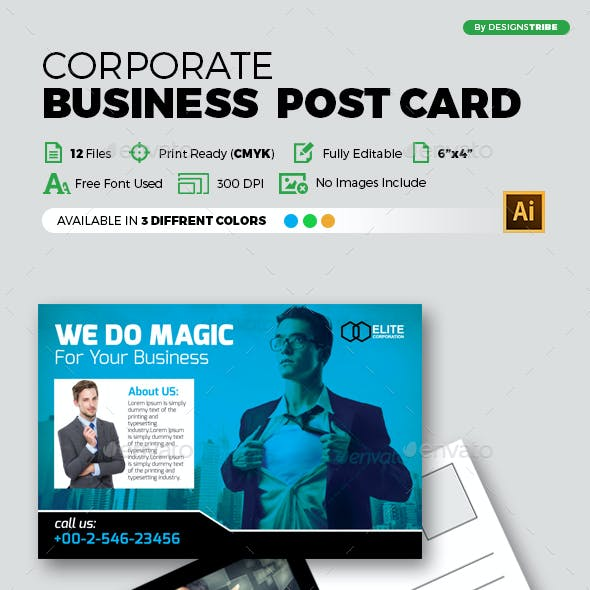 Corporate Post Card Design
