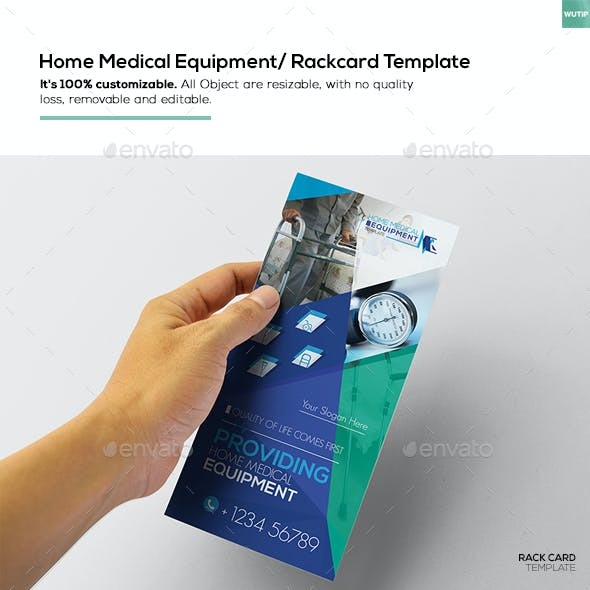 Home Medical Equipment/ Rackcard Template