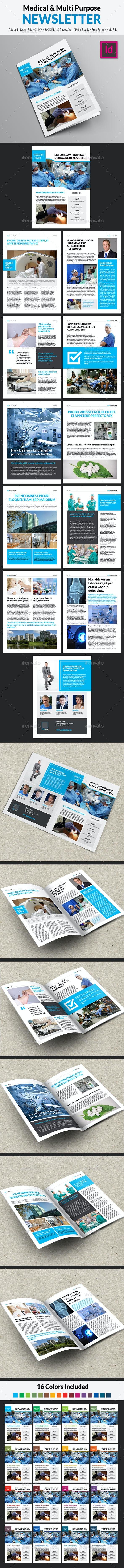 Medical & Multipurpose Newsletter - Newsletters Print Templates