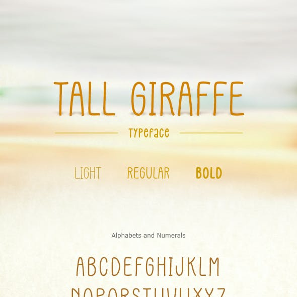 Tall Giraffe Font
