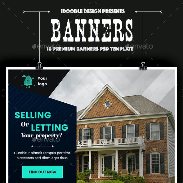 Real Estate Banner Ad Graphics Designs Templates
