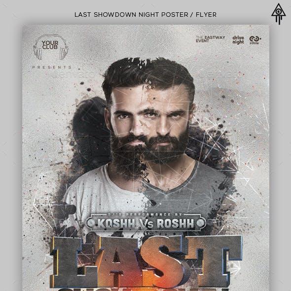 Showdown Night PSD Flyer / Facebook / Poster