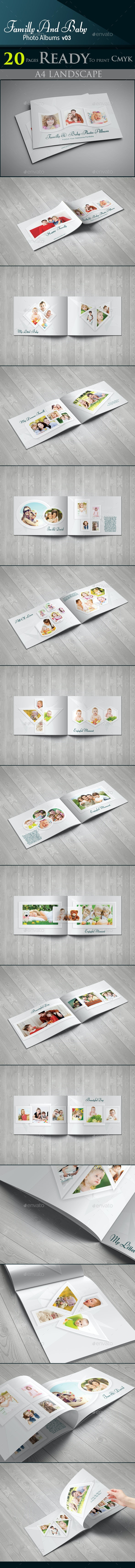 Familly And Baby Photo Albums V03 - Photo Albums Print Templates