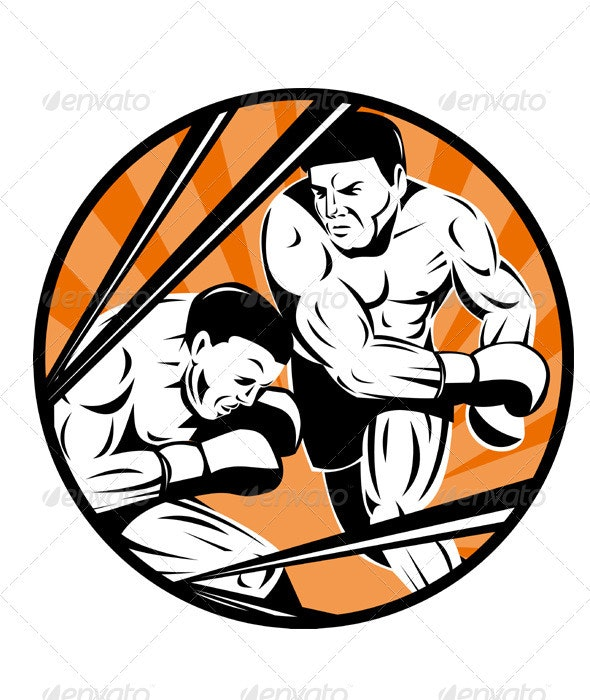 Boxer Boxing Punching Retro - People Characters