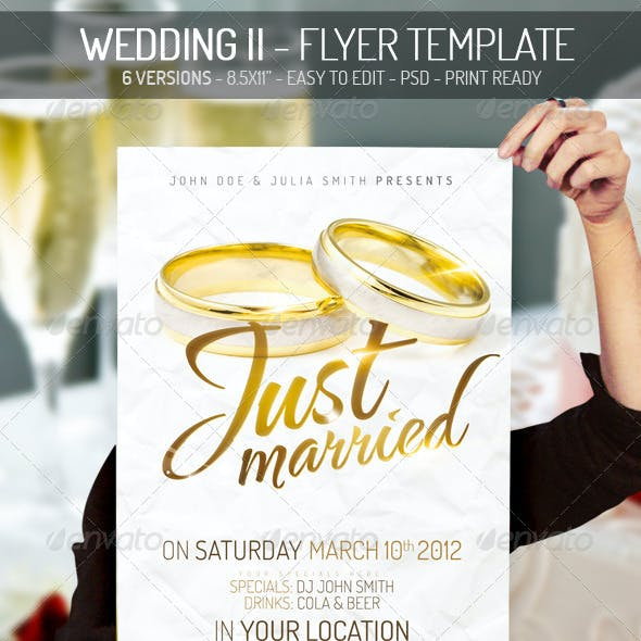 Wedding II - Flyer Template