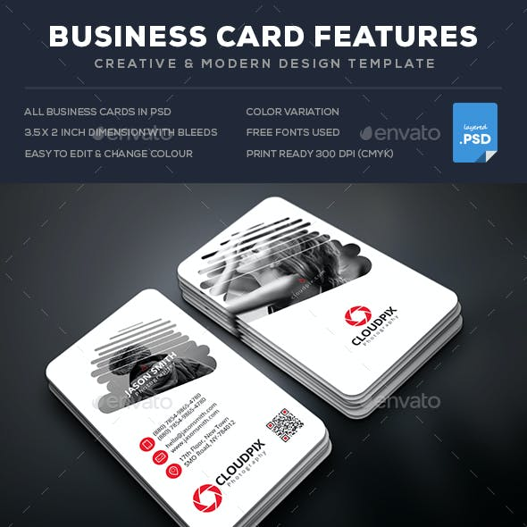 Cloud Photography Business Cards