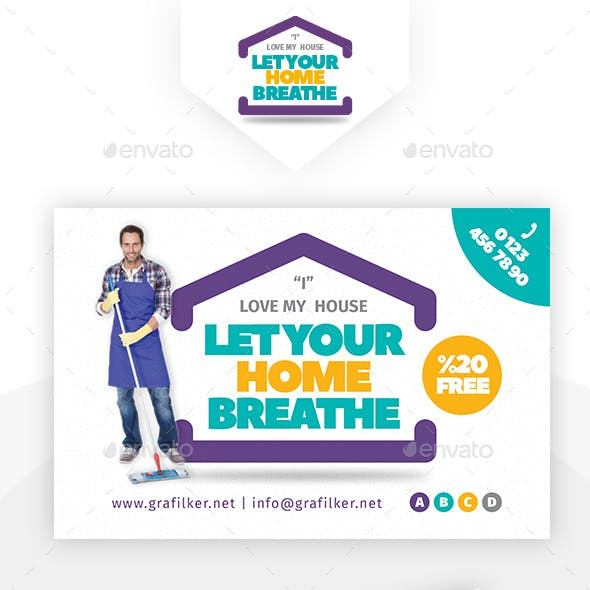 House Cleaning Postcard Templates