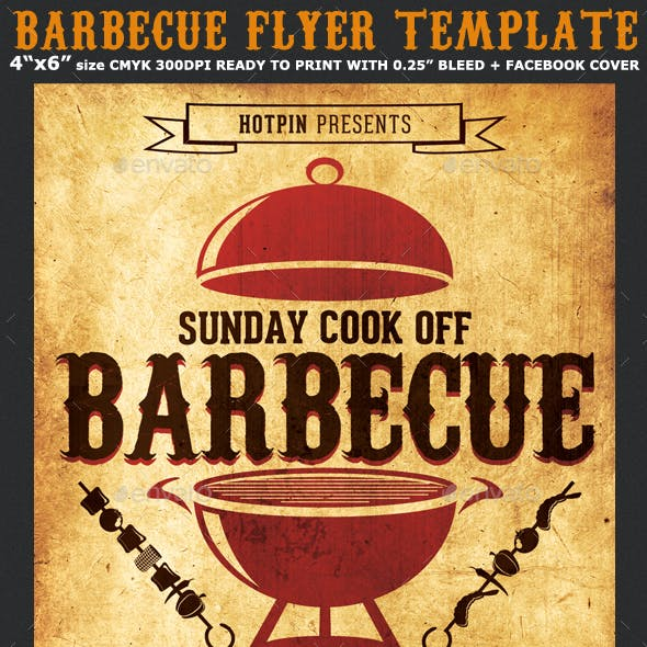 Barbecue-BBQ Flyer Template