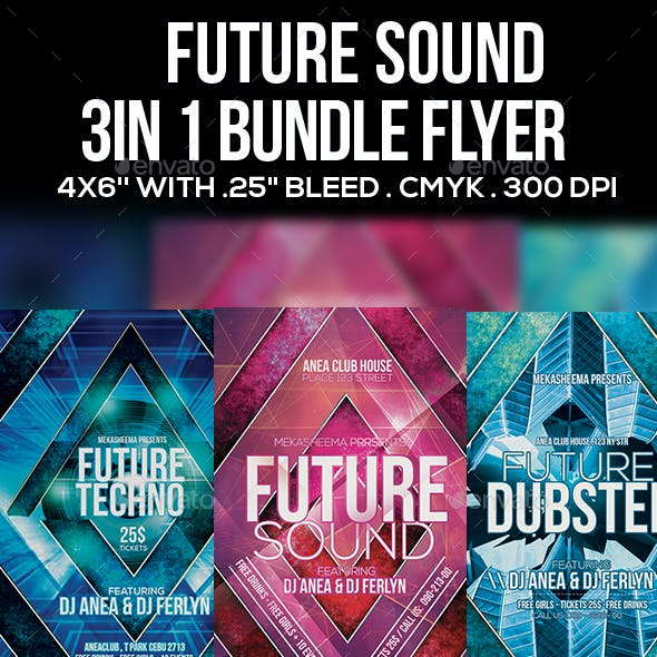 3 in 1 Future Sound Flyer