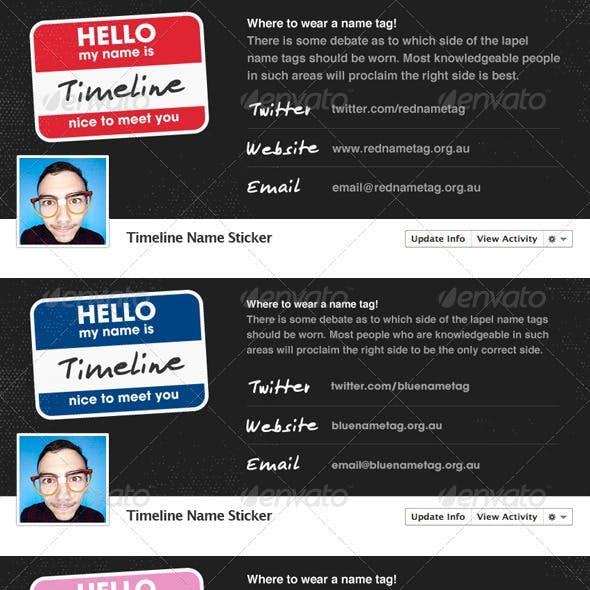 Name Sticker - Facebook Timeline