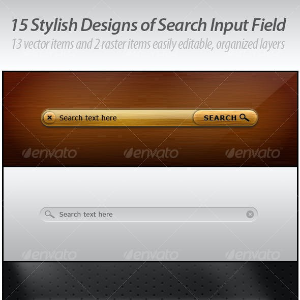 15 Stylish Designs of Search Input Field