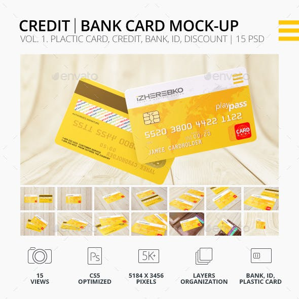 Credit Card | Bank Card | ID | Discount Mock-Up