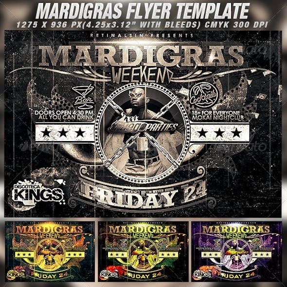 Mardigras Weekend Flyer Template