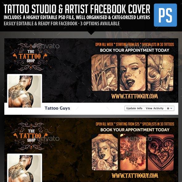 Tattoo Studio & Tattoo Artist Facebook Cover Photo