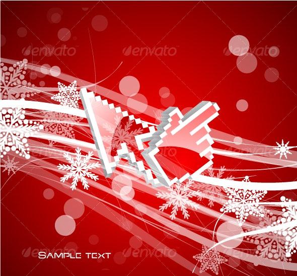 Technology and Christmas. Conceptual background - Christmas Seasons/Holidays