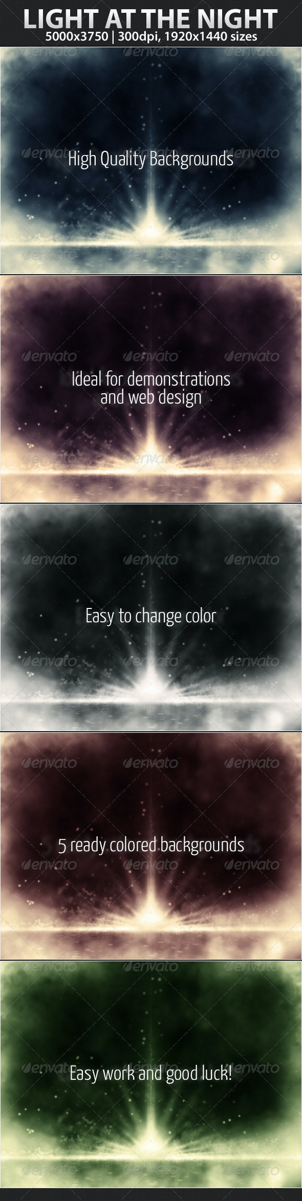 Light at the Night - Backgrounds Graphics