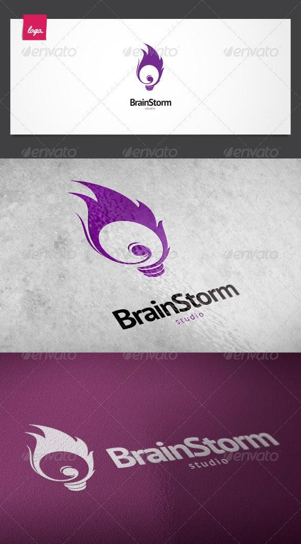 Brain Storm Logo - Symbols Logo Templates