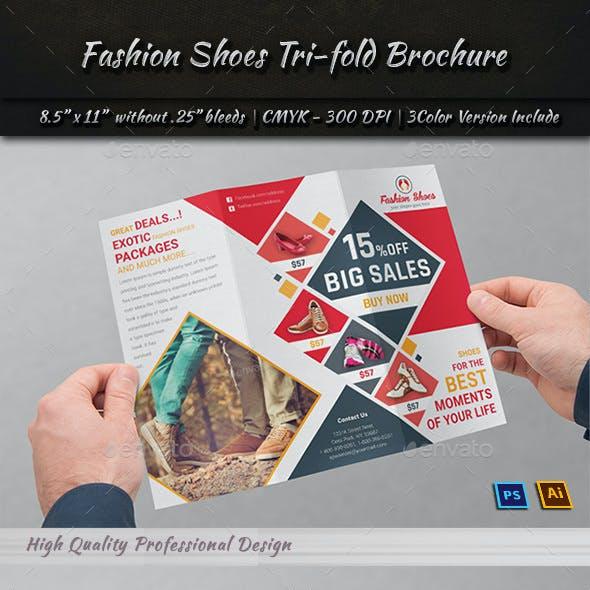 Fashion Shoes Tri-fold Brochure