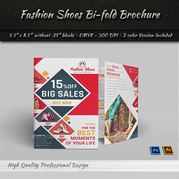 Fashion Shoes Bi-fold Brochure