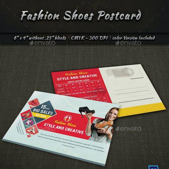 Fashion Shoes Postcard