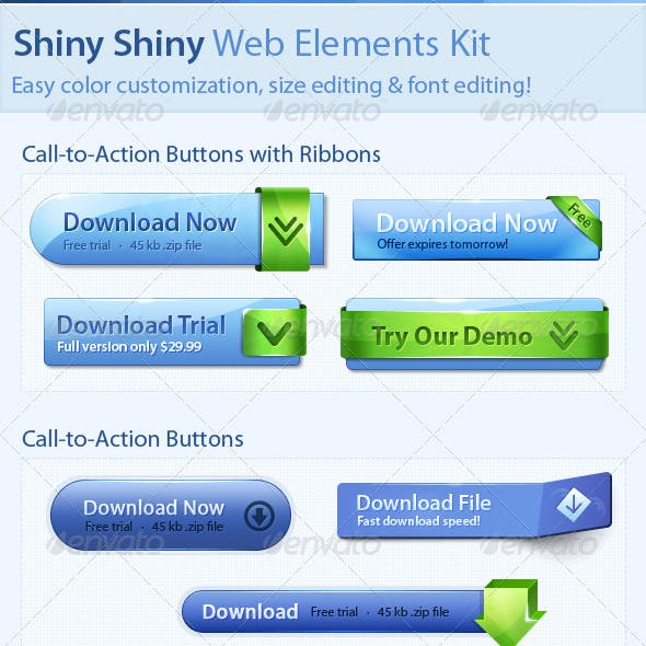 Shiny Shiny Web Elements Kit