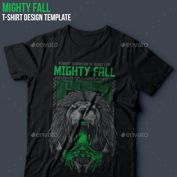 Mighty Fall T-Shirt Design