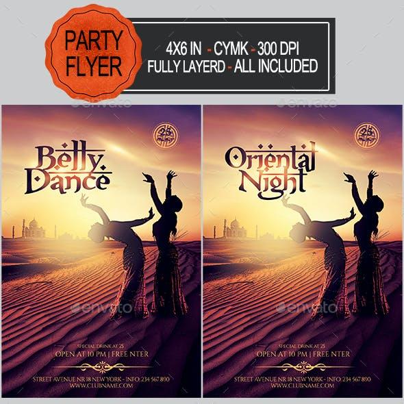 Oriental/Belly Dance Party Flyer