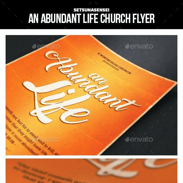 An Abundant Life Church Flyer