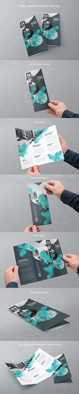Cool Green Modern Trifold - Brochures Print Templates