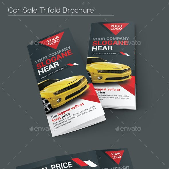Car Sale Tri-fold Brochure