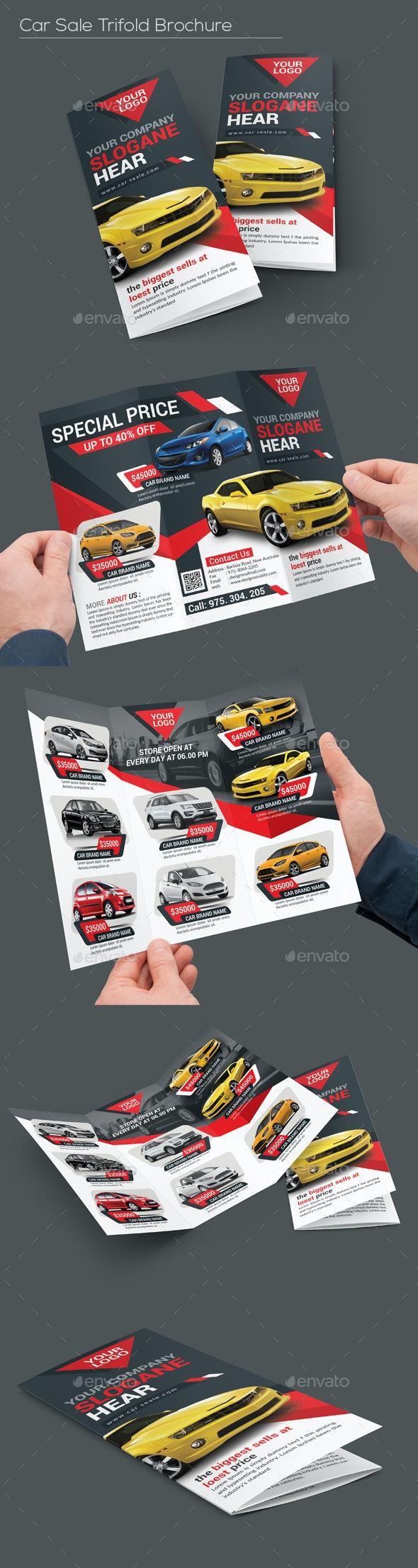 Car Sale Tri-fold Brochure - Corporate Brochures