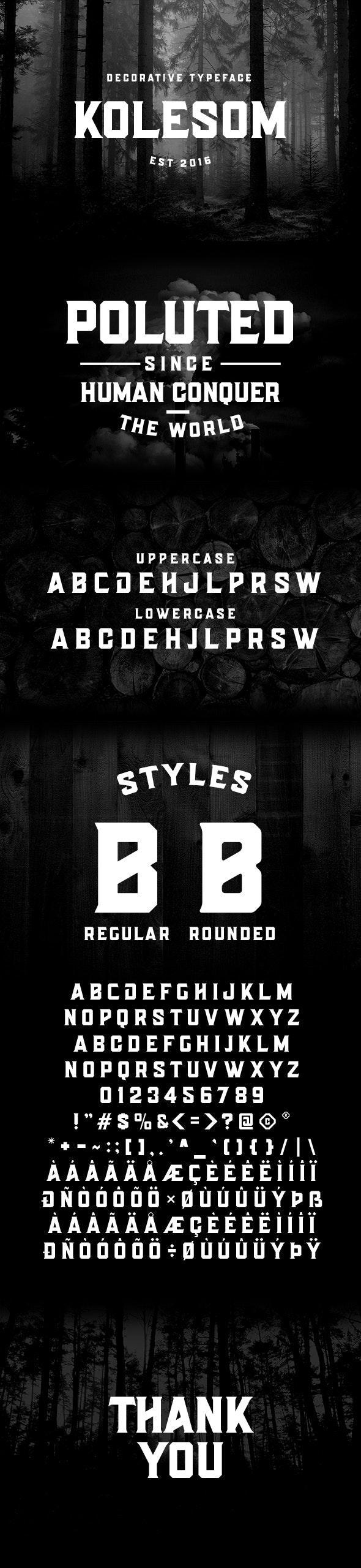 Kolesom Typeface - Cool Fonts