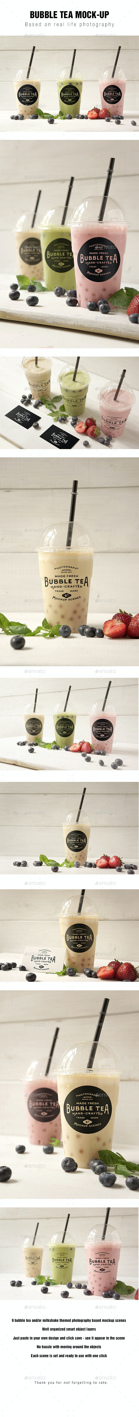 Bubble tea Mockup - Product Mock-Ups Graphics