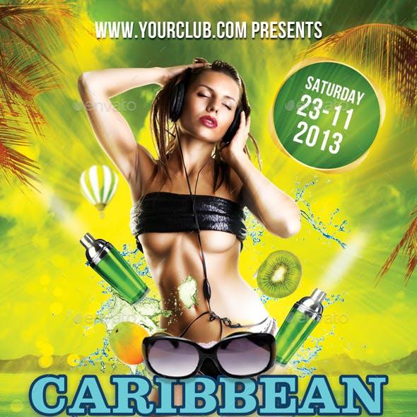 Caribbean Vibez Flyer + Fb Cover