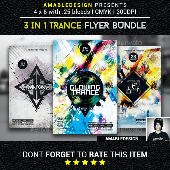 3 in 1 Trance Flyer/Poster Vol.6