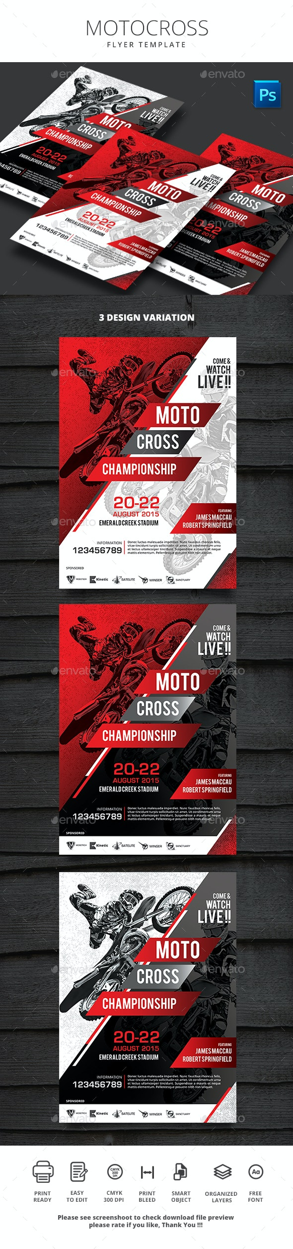 Motocross Flyer - Sports Events