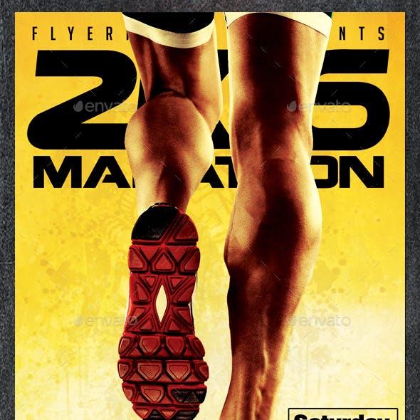 Marathon 2K16 Sports Flyer