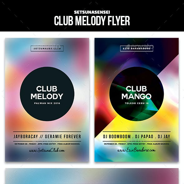Club Melody Flyer